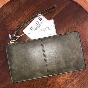 Jen & Co. Olive Green Wallet